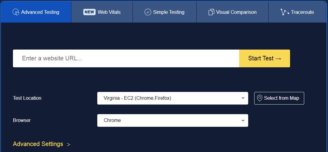 Webpagetest Seo tools